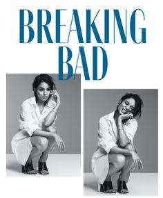 Vanessa Hudgens on the cover of 'Flare' February '14