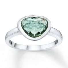 newest acquisition.... Green Amethyst Ring Sterling Silver