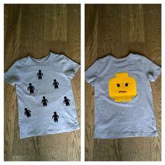 Lego flock shirt front en back