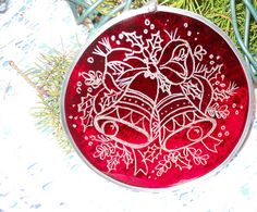 #Christmas Bells Tree #Ornament by artophile on Etsy, $15.00