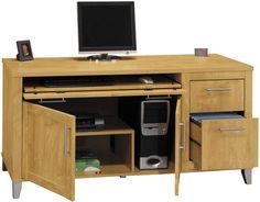 """60"""" Computer Credenza by Bush Furniture - 1-800-508-2890 - Free Shipping - Bush Furniture 2go.com"""