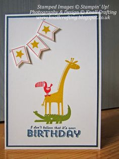 "Stampin' Up! ""Zoo Babies"" and ""See Ya Later"" stamp sets, Knall Crafting!: Back To Basics"