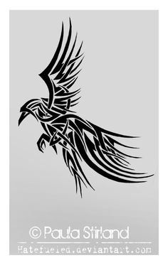 tribal_raven_by_hatefueled-d3bdkjd.jpg (711×1124)