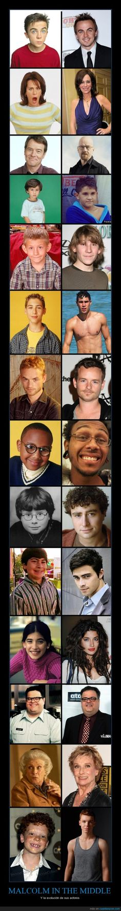 Evolucion Malcom in the Middle