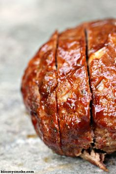 This is a simple meatloaf recipe that is grilled on a wood plank. It is incredibly easy and always gets devoured really quickly. I highly recommend making two so you have lots of leftovers for sandwiches. Easy Meatloaf, Meatloaf Recipes, Beef Recipes, Yummy Recipes, Outdoor Cooking Recipes, Grilling Recipes, Meat Loaf Recipe Easy, Cheesy Recipes, Cooking On The Grill