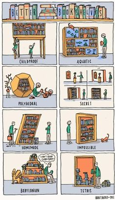 Do you ever hang out over at the Incidental Comics? Cartoonist Grant Snider is doing some pretty great stuff, and a lot of it is book related. Like this choice piece about bookshelves. We can relate! Book Memes, Book Quotes, Quotes Quotes, Crush Quotes, Up Book, Book Art, I Love Books, Books To Read, Cool Bookshelves