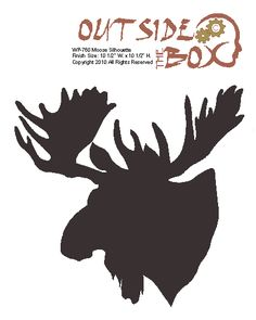 Woodworking Patterns Moose Scroll Saw Silhouette Woodworking Pattern by OTB Patterns Moose Silhouette, Animal Silhouette, Moose Decor, Moose Art, Moose Head, Stencil Art, Stencils, Deer Stencil, Stencil Patterns