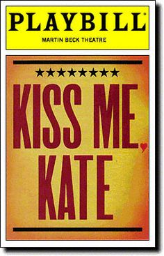 November A revival of KISS ME, KATE, starring Brian Stokes Mitchell and Marin Mazzie, opens at the Martin Beck Theatre Broadway Plays, Broadway Theatre, Musical Theatre, Broadway Shows, Broadway Party, London Theatre, Brian Stokes Mitchell, Broadway Posters, Movie Posters