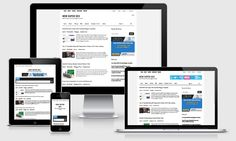 Simple Magazine Free Blogger Template has responsive layout design ...