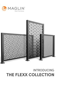 Perfect for creating an airy outdoor room, highlighting a row of plantings, or drawing attention to a design focal point - FLEXX panels are a design tool that reponds to the heights of your imagination. #panels #metalscreens #landscapearchitecture #terrace #cafe Outdoor Privacy Panels, Steel Panels, Outdoor Rooms, Furniture Projects, Home Collections, Tool Design, Flexx, Your Space, In The Heights