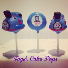 Thomas the Tank Engine Cake Pops by Faye's Cake Pops