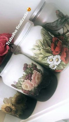 New Crafts, Diy Home Crafts, Fall Crafts, Mason Jar Crafts, Bottle Crafts, Mason Jars, Mason Jar Candle Holders, Recycling Containers, Recycled Glass Bottles