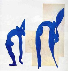 Henri Matisse, Blue Nudes, 1952 on ArtStack #henri-matisse #art