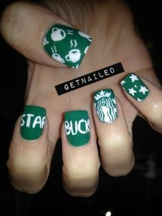 starbucks nails! I wish this talented