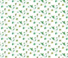 Lots of little tree frogs - ebygomm - Spoonflower