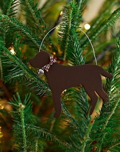 Chocolate Labrador Christmas Decoration