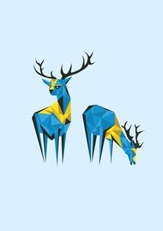 Caribou by Darren Oorloff, via Behance   Caribou, or reindeer, is a species of deer native to Arctic and Subarctic regions.
