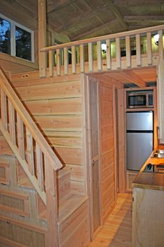 How To Avoid Having a Ladder in Your Tiny House via Ethan at The Tiny House.