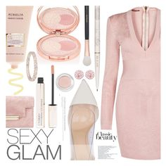 """""""Holiday Party Makeup"""" by aislinnhamilton1993 ❤ liked on Polyvore featuring beauty, Balmain, By Terry, Gianvito Rossi, Morphe, Paul & Joe, Marco Ta Moko, makeup, Sexy and rose"""