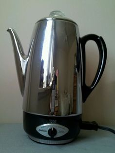 Vintage Sunbeam Deluxe AP-20 Stainless chrome finish 10 cup automatic percolator