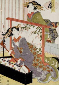 Moon - Tsuki..Ukiyo-e woodblock print, about 1810's, Japan, by artist Katsukawa Shunka II