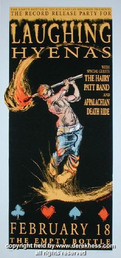 1995 Laughing Hyenas (95-03) Concert Poster by Derek Hess