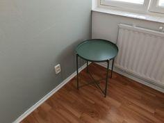 Sage green paint Tikkurila Serpentiini (V447) + Ikea Gladom table tray