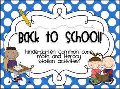 Kindergarten Math and Literacy station packet!