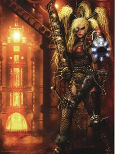 Mad Donna Ulanti house Escher. Necromunda