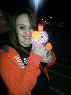 I won her this duck..