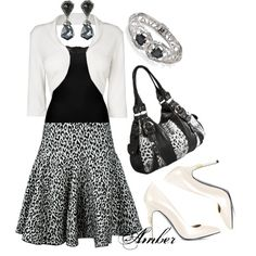 Black & White Animal Print by stay-at-home-mom on Polyvore featuring BKE, Aquilano.Rimondi, Phase Eight, Vince Camuto and Alexis Bittar