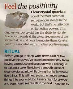 Feel the positivity Quartz Crystal Healing, Crystal Magic, Crystal Grid, Healing Crystals, Clear Crystal, Quarts Crystal, Meditation Crystals, Chakra Crystals, Crystals And Gemstones
