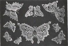 Butterfly Irish Crochet Butterflies from antique pattern library free pdf.    Great Irish Lace and Romanian Lace Patterns