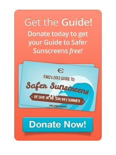 """We use the EWG sunscreen guide to find the best non-toxic creams to put onto our babies largest """"organ"""" - their skin!  Everything you put on the skin is absorbed into the bloodstream - choose your products with care :)"""