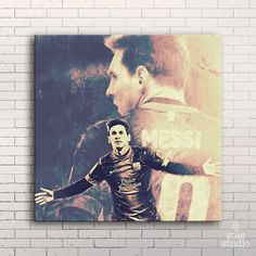 LIONEL MESSI FC Barcelona - Painting Giclee CANVAS PRINT by Stas Studio (Large 22' x 22' / MOUNTED Gallery Wrap) * Be sure to check out this awesome product. (This is an affiliate link) #DIYHomeDecor