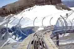 world's most amazing roller coasters Biggest Roller Coaster, Crazy Roller Coaster, Roller Coasters, Swiss Alps, Scary, World, Amazing, Outdoor, Outdoors