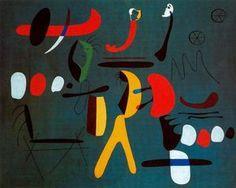 Painting - (Joan Miro)