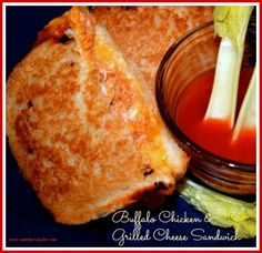 Buffalo Chicken & Grilled Cheese Sandwich