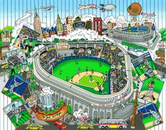 "An All-Star Tribute to Yankee Stadium21"" x 17"""