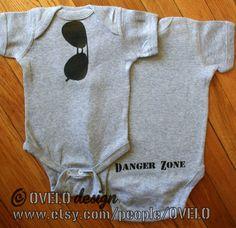 Top Gun Danger Zone Baby Aviator Onsie