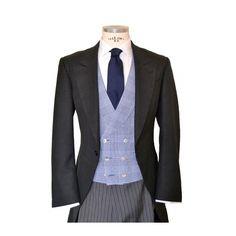 Chaqué+chalecos cruzados de cuadros Morning Coat, Morning Suits, Morning Dress, Luxury Fashion, Men's Fashion, Fancy Dress, Dapper, 3 Piece, Gentleman