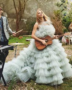 Beautiful Elena Perminova @lenaperminova in Haute Couture 10 Gown @tatler_russia May Issue