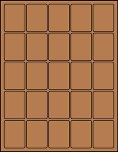 """1.5"""" x 2"""" Rectangular Brown Kraft label sheets from #www.KraftOutlet.com $.79 per sheet"""