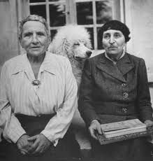 gertrude and alice and their poodle named basket   <3
