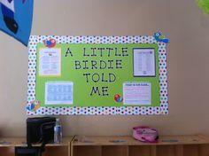 News bulletin board. Polka Dot Classroom, Jungle Theme Classroom, Toddler Classroom, Classroom Decor Themes, 2nd Grade Classroom, New Classroom, Classroom Design, Preschool Classroom, Classroom Organization