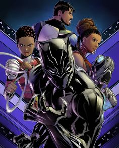 Finished my black panther movie tribute art print.... - Glen Canlas Art