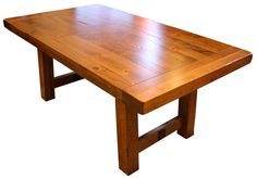 Settler's Trestle Table - Ohio Hardwood Furniture