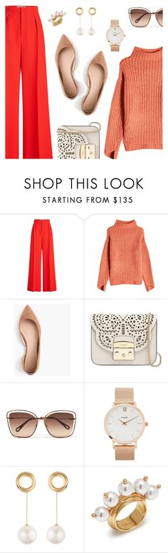 """Outfit of the Day"" by dressedbyrose ❤ liked on Polyvore featuring Roland Mouret, 81 Hours, J.Crew, Furla, Chloé, CLUSE, Joanna Laura Constantine, Mulberry, ootd and polyvoreeditorial"