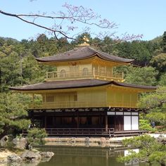 Gold temple in Kyoto, Japan. 金閣寺