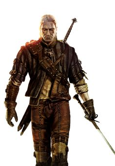 Geralt of Rivia Render by GiveMeAFuck